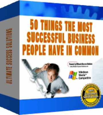Product picture 50 Things Successful Entrepreneurs Have in Common